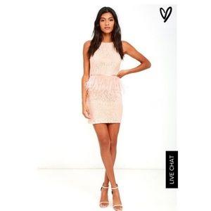 Blush/Peachy Mini Dress